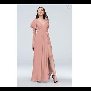 NWT Davids Bridal Flutter Sleeve Georgette Dress 0